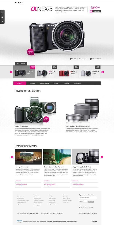Sony- Inspiración web design