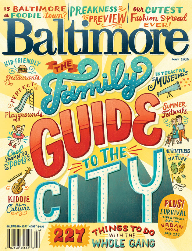 Baltimore Magazine Cover by Mary Kate McDevitt