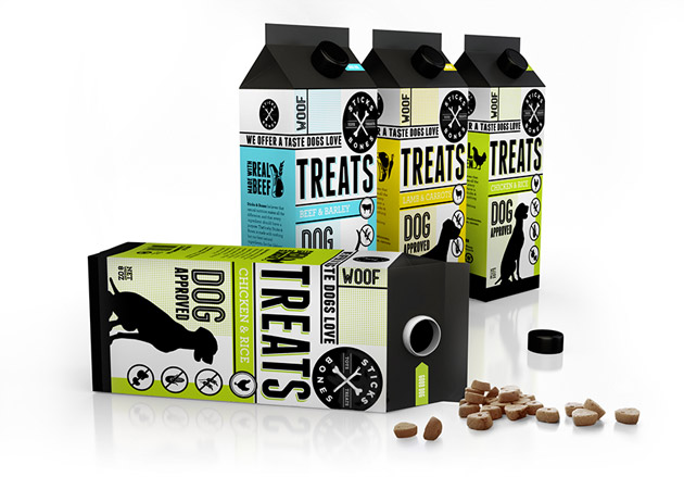 Packaging animales - pets - Sticks and Bones