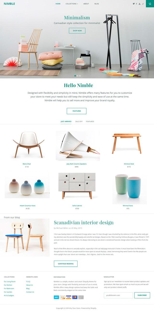 Nimble e-commerce theme - Los websites de la semana 2# 02/2016