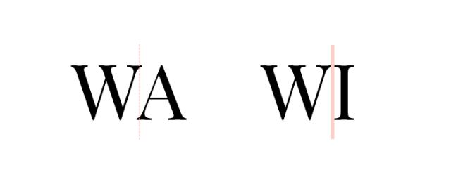 Kerning aplicado a caracteres