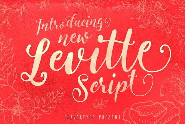 Fuente Levitte - Tipografías primaverales