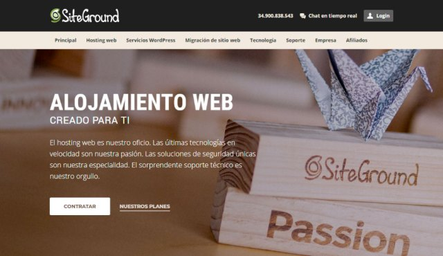 Contratar hosting WordPress - home SiteGround