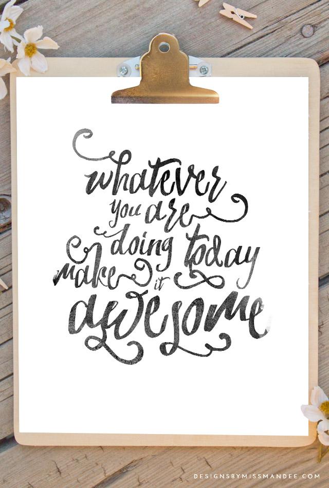 """Do something awesome"" by Miss Mandee  | 10 consejos para crear imágenes con citas | mlmonferrer.es"