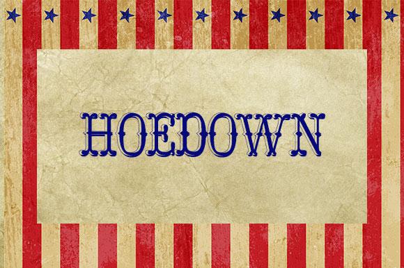 Fuentes gratuitas inspiradas en el circo  |  Hoedown  |  mlmonferrer.es
