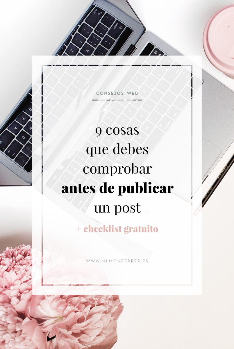 9 cosas que debes comprobar antes de publicar un post + checklist gratuito