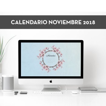 Calendario descargable de noviembre de 2018