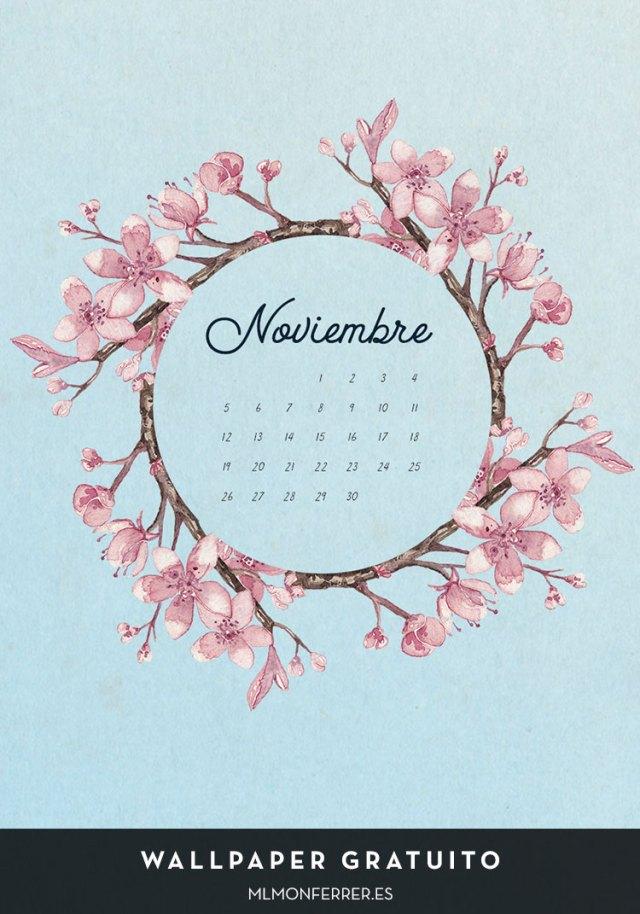 Wallpaper gratuito | Calendario de noviembre