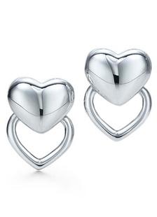 White Silver Plated Sweetheart Earrings