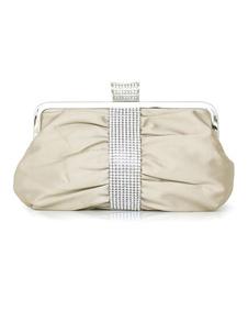 Pleated Silk Evening Bag