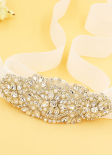 Wedding Dress Sash Rhinestone Lace-up Bridal Sash (width 5cm, Length 170cm)