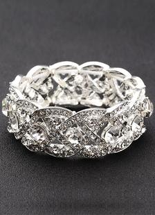 Bridal Pearl Rhinestone Bracelet For Wedding