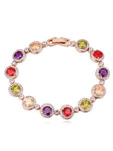 Silver Wedding Bracelet Cubic Zirconia Beaded Bridal Bracelets Jewelry