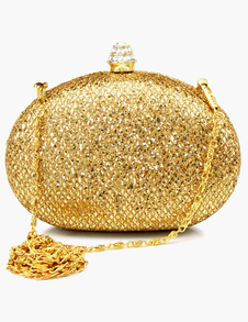 Pave Rhinestone Evening Clutch in 5 Colors with Detachable Chain