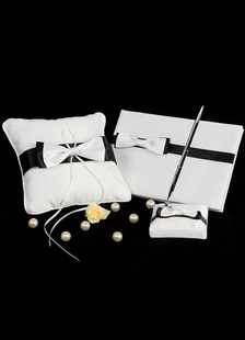 Black&White Bows Ribbons Wedding Flowers Collection Set