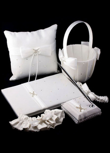 Ivory Chic Bows Ribbons Wedding Flowers Collection Set