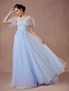Wedding Dress Tulle Short Sleeves Bridal Gown Chaple Train Quinceanera Dress A-line Backless Luxury Pageant Dress