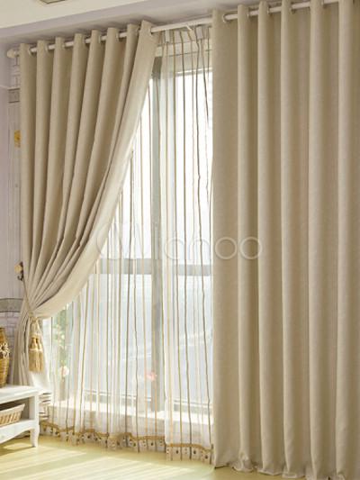 Bege elegante cortina Blackout Floral polister  Milanoocom