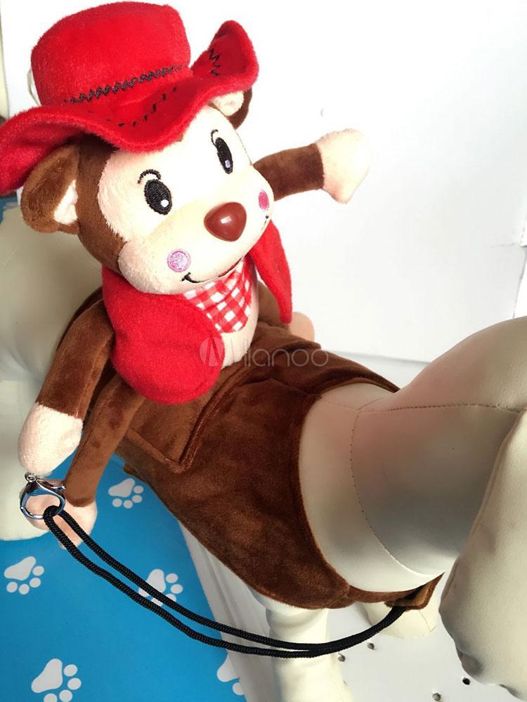 Monkey Riding Dog Clothing Cartoon Cosplay Dog Costumes