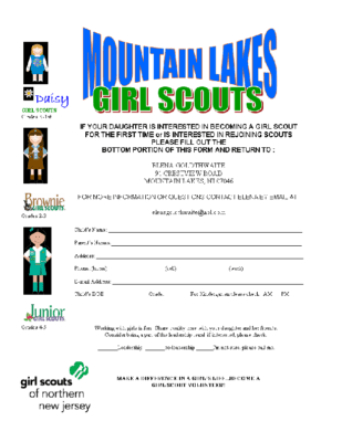 Girl Scouts Sign Up