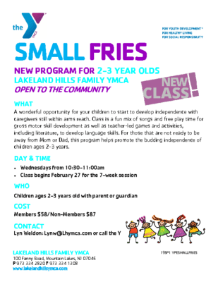 Small Fries for 2-3 year olds – Lakeland Hills Y