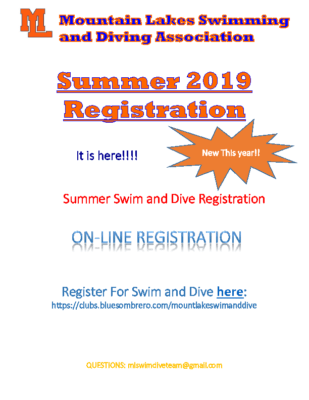ML Summer Swim and Dive Registration