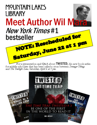 Meet Author Wil Mara – ML Library * note date change