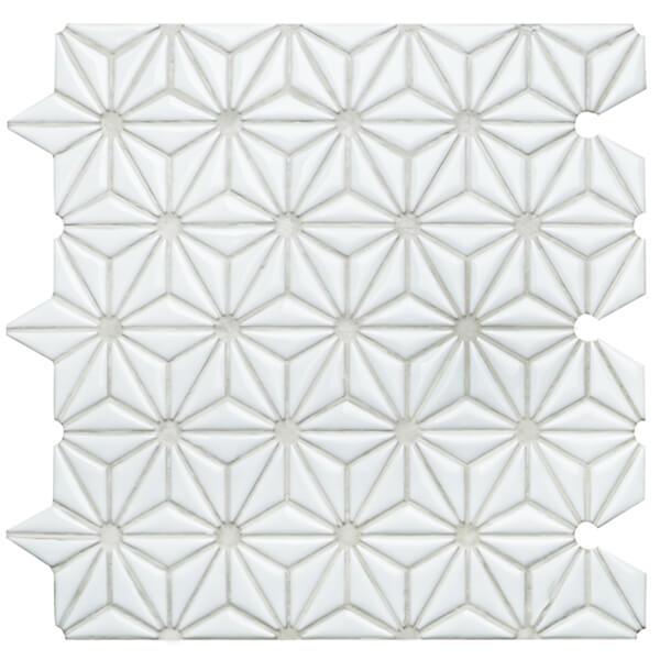 triangle flower pattern ceramic wall