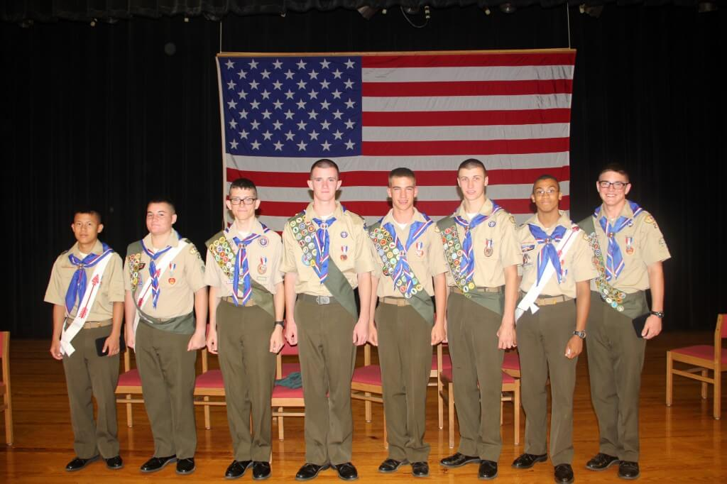 Marine Military Academy Eagle Scouts Ceremony