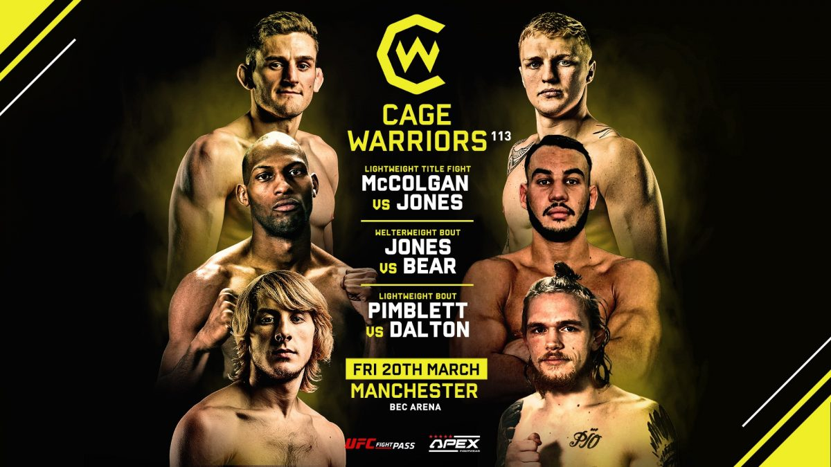 The CageWarriors FC 113 live blog