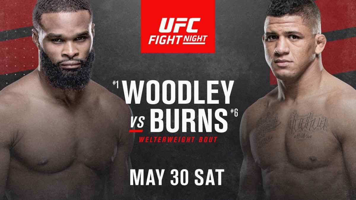 UFC on ESPN 9: Tyron Woodley vs. Gilbert Burns confirmed as main event
