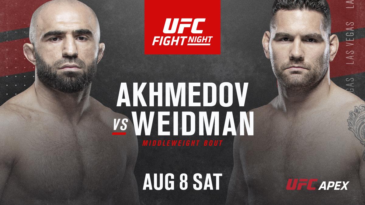 UFC on ESPN+ 32: Chris Weidman returns to middleweight against Omari Akhmedov