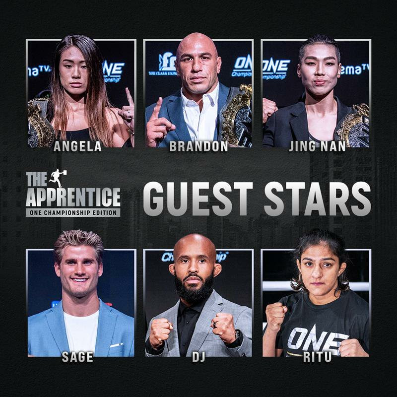 ONE trots out championship athlete guest lineup for The Apprentice: ONE Championship Edition