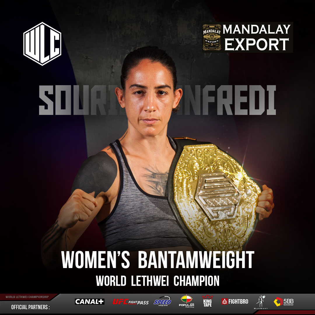 WLC's women's bantamweight champion Souris Manfredi to appear on TKO Countdown Sept. 6
