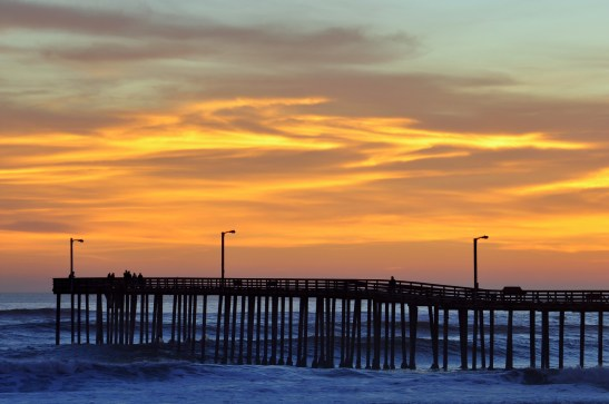 A glorious sunset captured in the sleepy town of Cayucos-by-the-Sea on California's Central Coast.