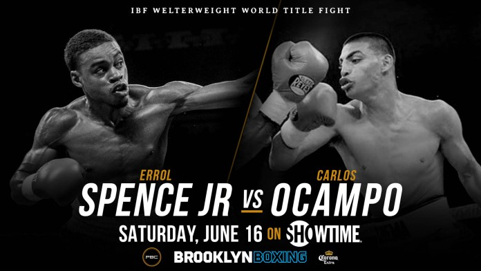 Boxing: Undercard details for Errol Spence Jr vs Carlos Ocampo - Showtime