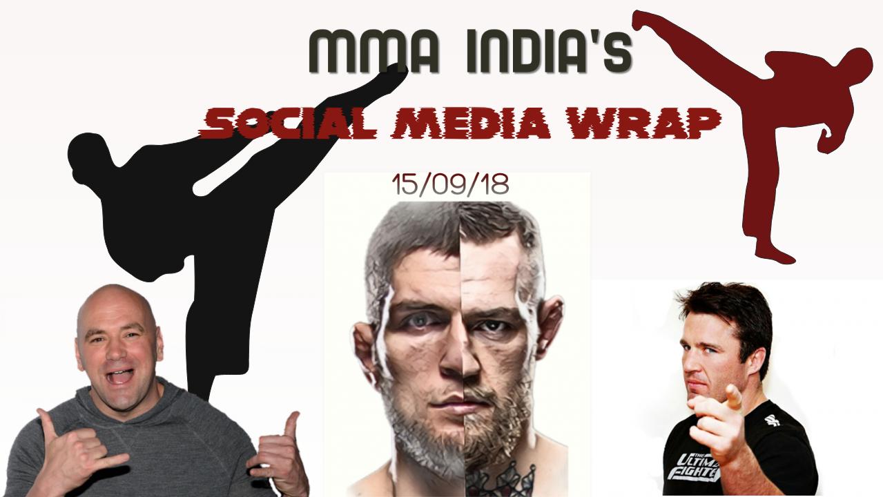 MMA India's Social Media Wrap (15/09/2018) feat: Hunt, Werdum, Conor, Ariel's brain and Tyron's single. - mma social media wrap
