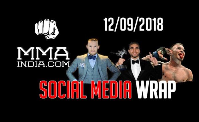 MMA India's Social Media Wrap (12/09/2018) feat: Conor, Colby, Nick Diaz, Snoop Dog, Khabib's view on rap, etc. - mma social media wrap