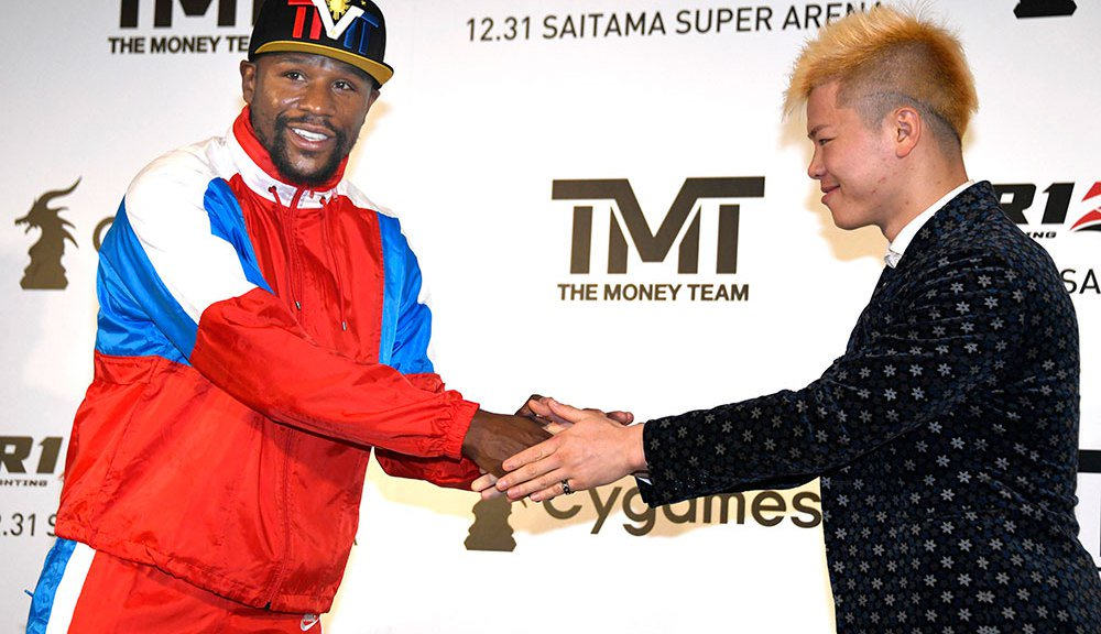 Floyd Mayweather to fight Japanese kickboxer Tenshin Nasukawa on Dec 31st in Rizin - Mayweather