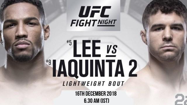 UFC Fight Night – Kevin Lee vs Al Iaquinta -