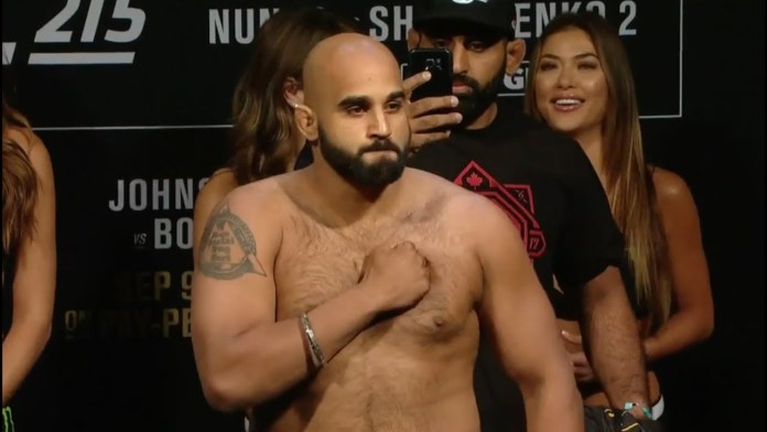 Arjan Singh Bhullar announces his next fight for UFC Ottawa -