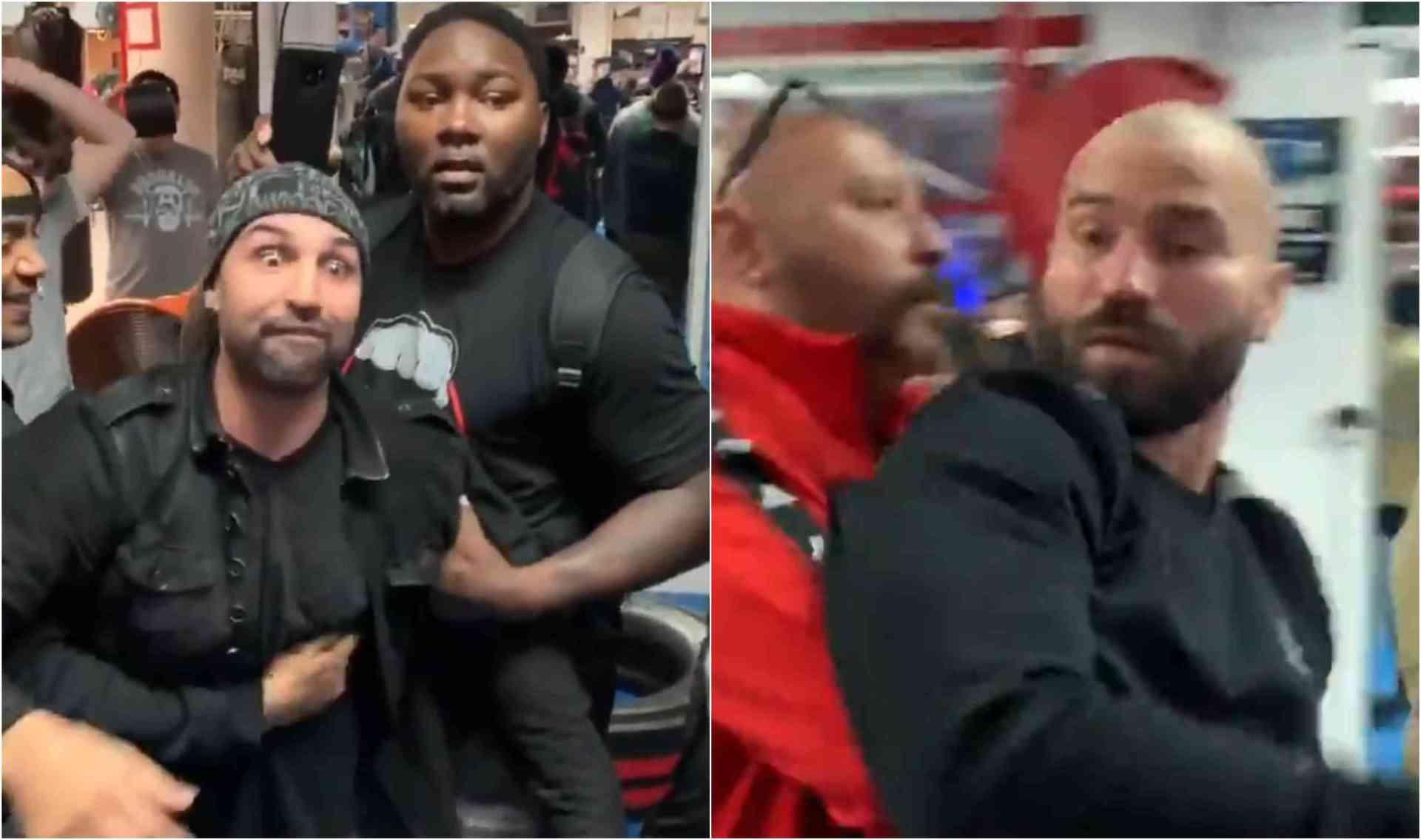 VIDEO: Paulie Malignaggi slaps Artem Lobov after exchanging heated words! - Lobov