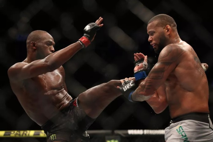 Thiago Santos reacts to his 5 round fight against Jon Jones - Santos