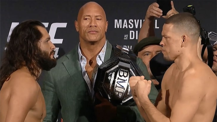 VIDEO: Dwayne Johnson responds to Nate Diaz's 'F**k The Rock too' remarks after UFC 244 - Nate