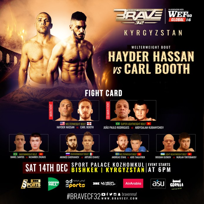 BRAVE CF 32's fight card announced for partnership with WEF Global - Brave Combat Federation
