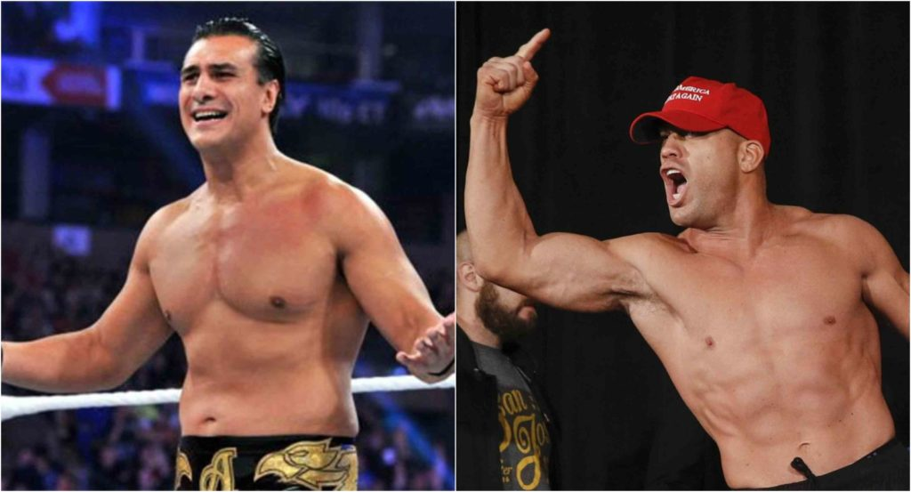 Watch: Tito Ortiz chokes out Alberto Del Rio and holds on to the submission even after the tap! - Tito Ortiz