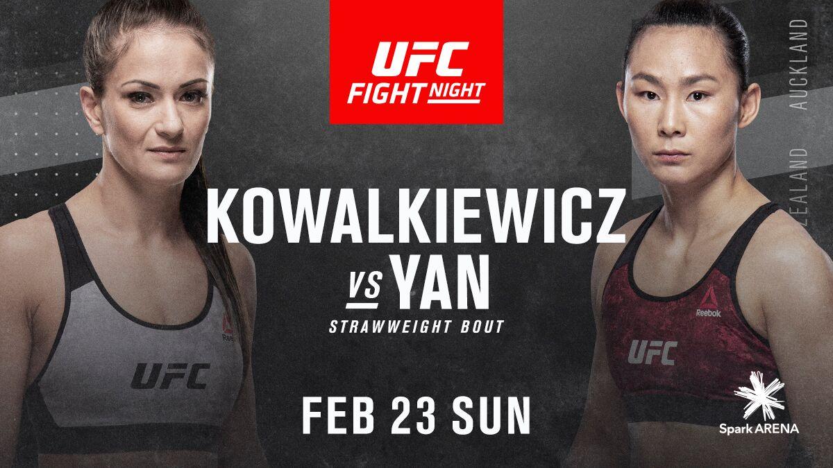 Yan Xiaonan returns against Karolina Kowalkiewicz at FIGHT NIGHT: FELDER vs. HOOKER -