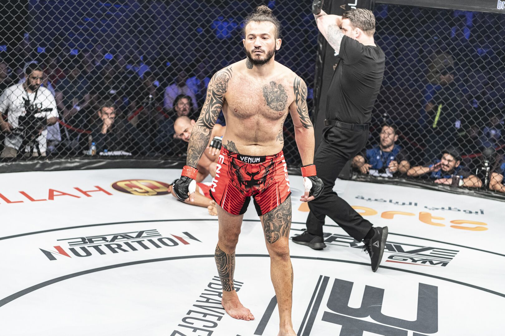 "Arab MMA legend Fakhreddine calls out BRAVE CF champ Daniel ""Gaucho"" -"