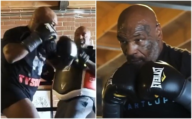 New training footage emerges of Mike Tyson absolutely ripping pads! - Mike Tyson