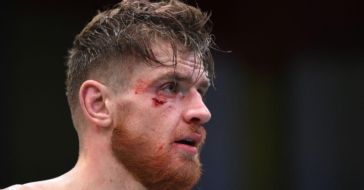 Shahbazyan after being beaten by Brunson
